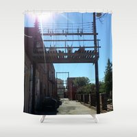 oklahoma Shower Curtains featuring Oklahoma Ally by HmmCades