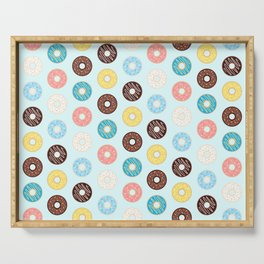 Donuts — Blue Background Serving Tray