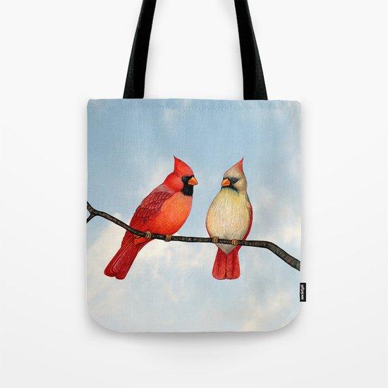 cardinal couple Tote Bag