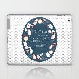 Alice in Wonderland - Six Impossible Things Laptop & iPad Skin