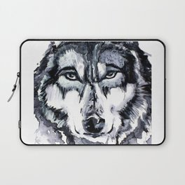 Abstract Wolf - Zoomed Laptop Sleeve