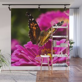 A butterfly flaps its wings Wall Mural