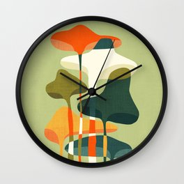 Little mushroom Wall Clock