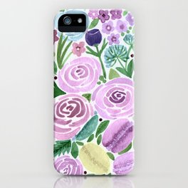 Watercolor . Macaroons in the colors . iPhone Case