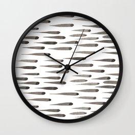 Brush Marks Wall Clock