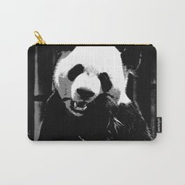 Cute Giant Panda Bear with tasty Bamboo Leaves Carry-All Pouch