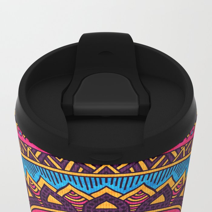 Hippie Mandala 19 Metal Travel Mug
