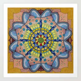 Calm Mandala - מנדלה רוגע Art Print