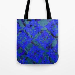 Blue Fleur de Lis Tote Bag