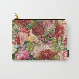 Vintage Retro flower pattern old fashioned Carry-All Pouch