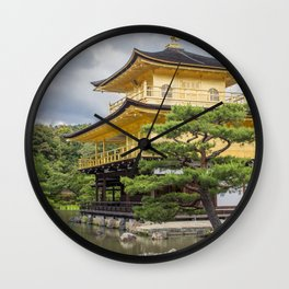 Japan Golden Pagoda Wall Clock