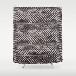 triangles all over in dark grays Shower Curtain
