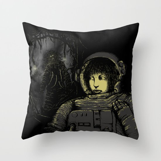 Space Horror Throw Pillow