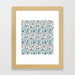 Insects and Moths Frolicking in the Day Framed Art Print