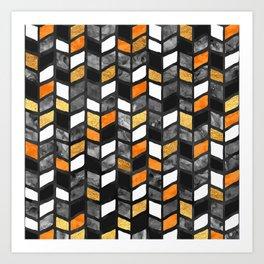 Fall Herringbone Art Print