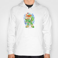 teenage mutant ninja turtles Hoodies featuring Teenage Mutant Ninja Turtles Hug by Super Group Hugs