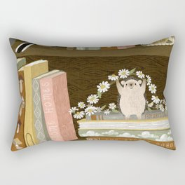 cottage bookshelf Rectangular Pillow