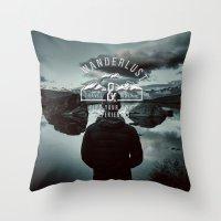wanderlust Throw Pillows featuring Wanderlust by UtArt