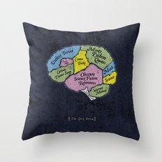 The Geek Brain Throw Pillow