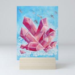 Healing Crystals - Amethyst - Karla Leigh Wood Mini Art Print
