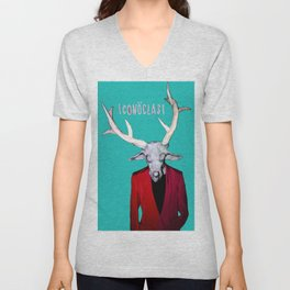 ICONOCLAST DEER MAN Unisex V-Neck