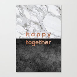 Happy Together Copper Canvas Print