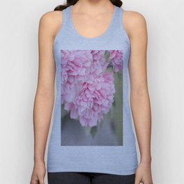 Pink Peonies On A Green And Grey Background #society6 #buyart Unisex Tank Top