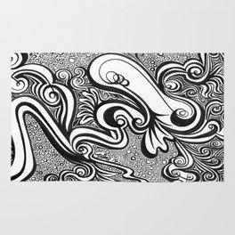Life Lines (Black) Rug