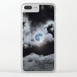 Blue Moon I Wonder Clear iPhone Case