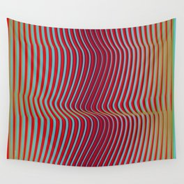 OpArt WaveLines 2 Wall Tapestry
