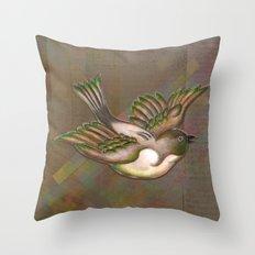 Flying Little Bird Throw Pillow