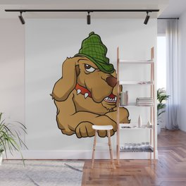 detective dog cartoon Wall Mural