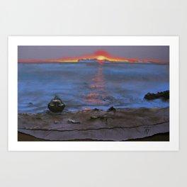 North Sunset Art Print