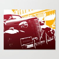 law Canvas Prints featuring The Law by Steel Graphics