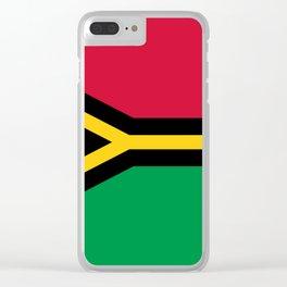 Vanuatu Flag Clear iPhone Case
