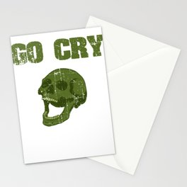 """Great Cooking Design For Chef T-shirt Design """"Go Cry In The Walk In"""" Fork Knife Fork Kitchen Dessert Stationery Cards"""