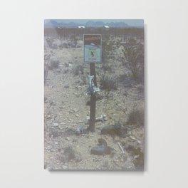 Abduction Zone Metal Print