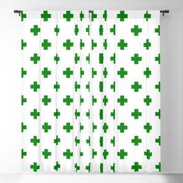 Green Swiss Cross Pattern Blackout Curtain