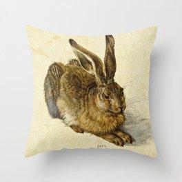 Albrecht Durer - Hare Throw Pillow