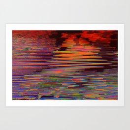 digital lava Art Print