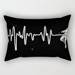 Space Heartbeat Rectangular Pillow
