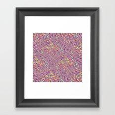 Cell Floral Framed Art Print