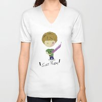 scott pilgrim V-neck T-shirts featuring Scott Pilgrim by Deep Search