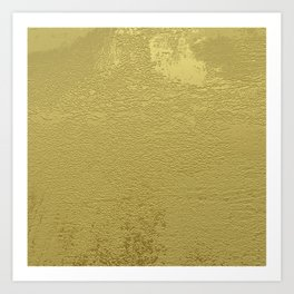 Gold Paint Art Print