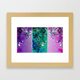Triptych: Spring Synthesis Framed Art Print