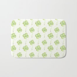 Four Leaf Clover Pattern Bath Mat
