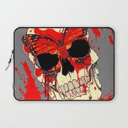 HALLOWEEN BLOODY SKULL & BUTTERFLY ART Laptop Sleeve
