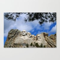 rushmore Canvas Prints featuring Mount Rushmore by Christiane W. Schulze Art and Photograph