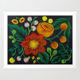 ChalkFlowers Art Print