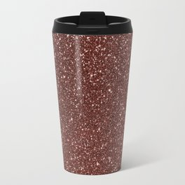 Ruby Pink Copper Glitter Travel Mug